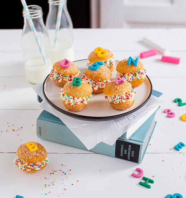 Snackidee zur Einschulung: ABC-Mini-Berliner 16
