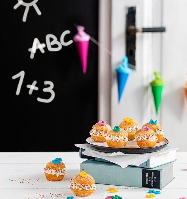 Snackidee zur Einschulung: ABC-Mini-Berliner 6