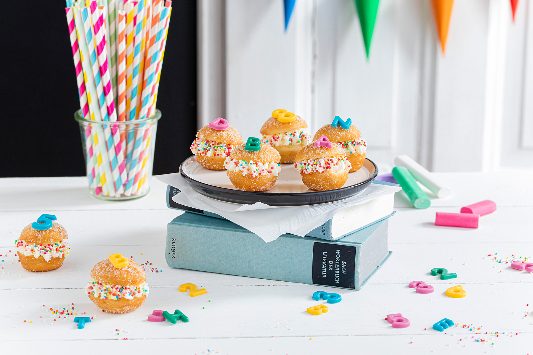 Snackidee zur Einschulung: ABC-Mini-Berliner