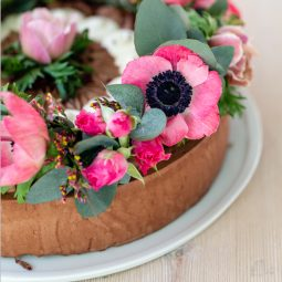How to: Blumenkranz als Tortendeko 1