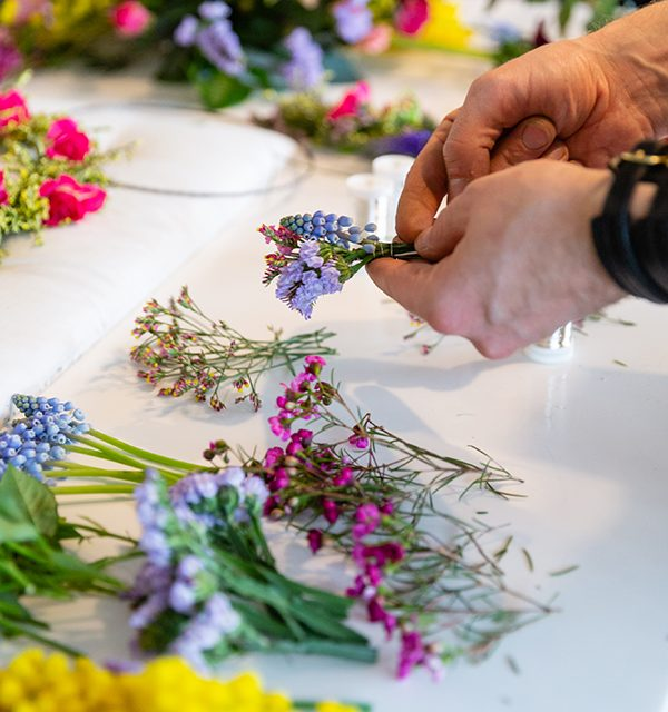 How to: Blumenkranz als Tortendeko 19