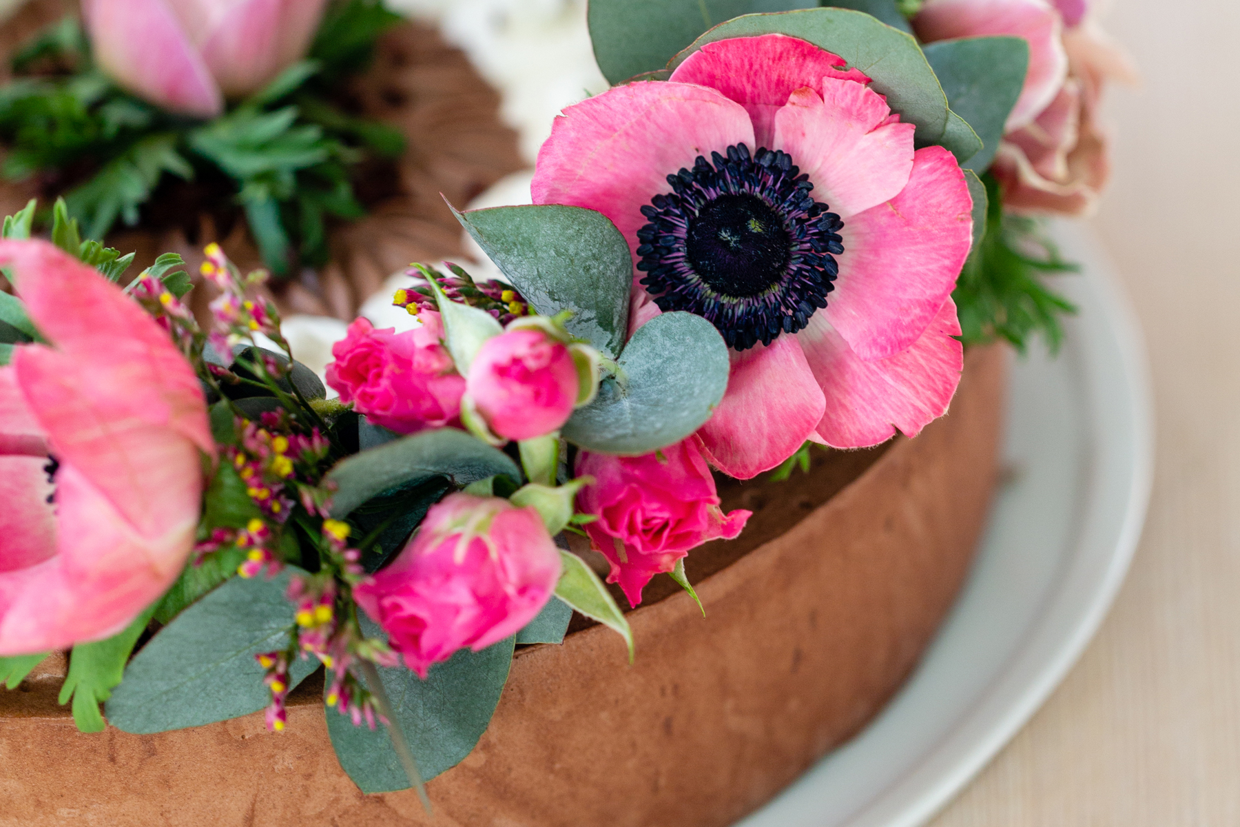 How to: Blumenkranz als Tortendeko