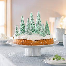 Für Weihnachtsfans: Apfelkuchen mit Eiswaffel-Tannen 27
