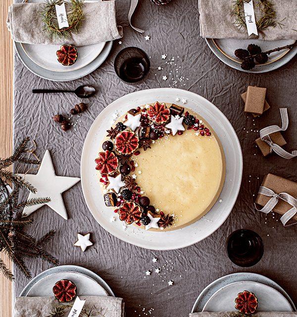 Weihnachtliche Windbeutel-Kirsch-Torte 9