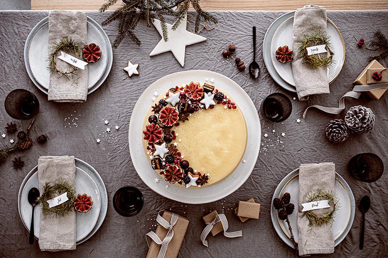 Weihnachtliche Windbeutel-Kirsch-Torte 28