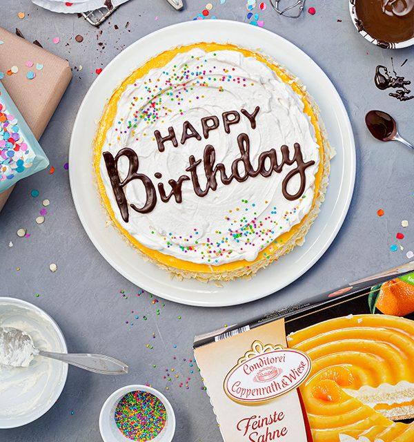 Geburtstagstorte mit DIY-Lettering-Schriftzug 3