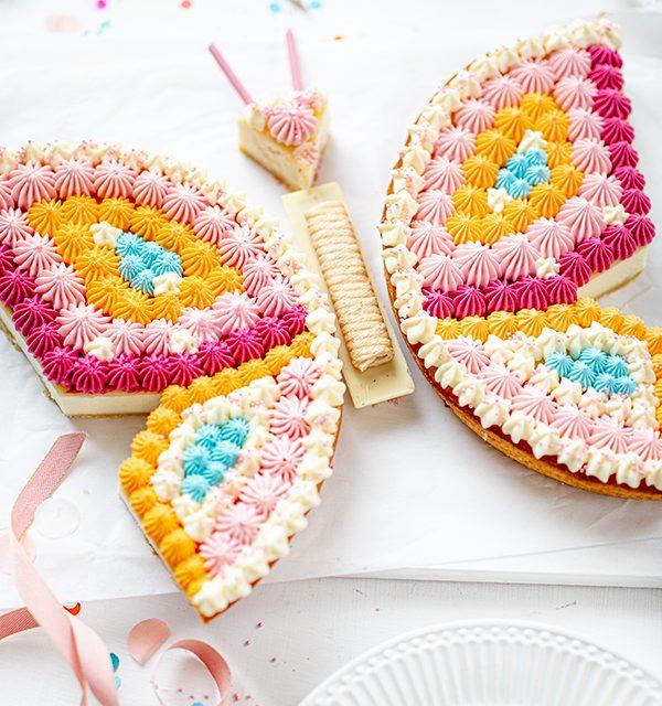 Schmetterlingskuchen zum Kindergeburtstag 10