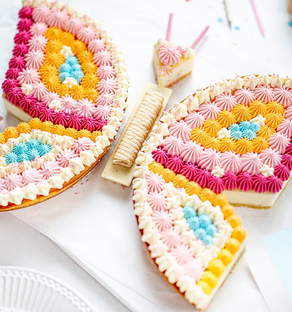 Schmetterlingskuchen zum Kindergeburtstag 11