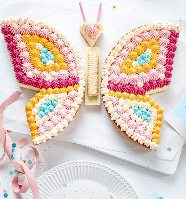 Schmetterlingskuchen zum Kindergeburtstag 12