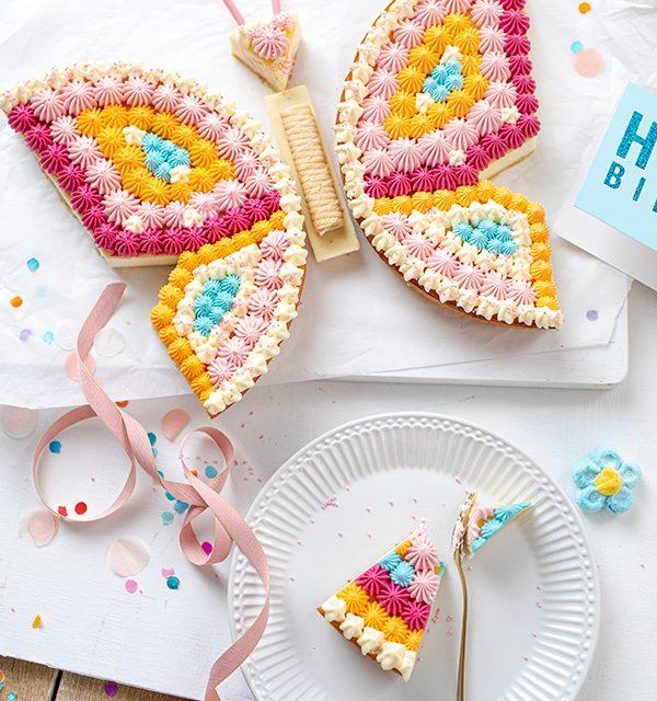 Schmetterlingskuchen zum Kindergeburtstag 18
