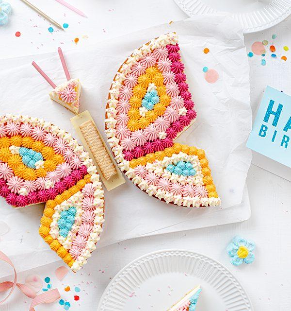 Schmetterlingskuchen zum Kindergeburtstag 4