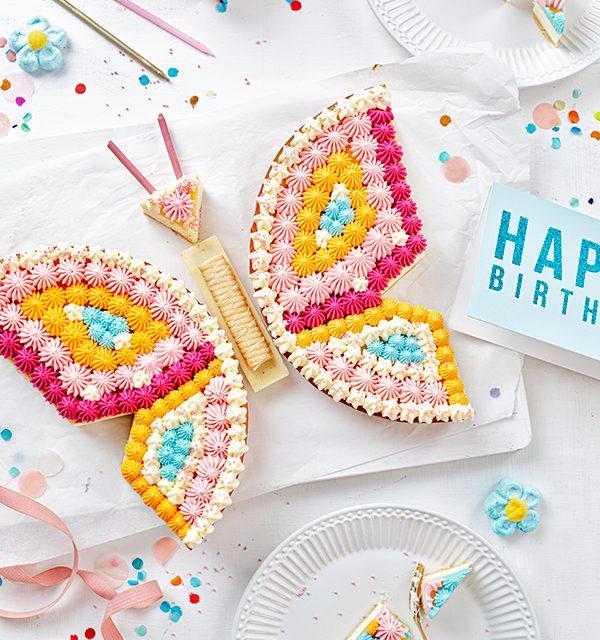 Schmetterlingskuchen zum Kindergeburtstag 5