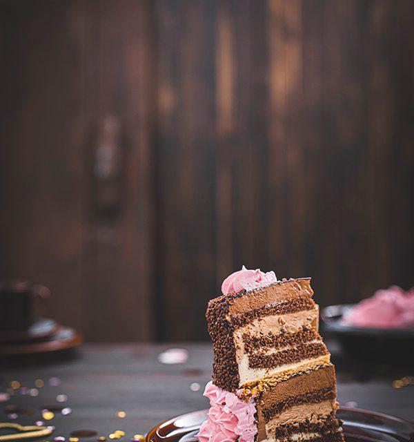 Torte zum 18. Geburtstag: Schokoladentorte mit Wunderkerzen 3