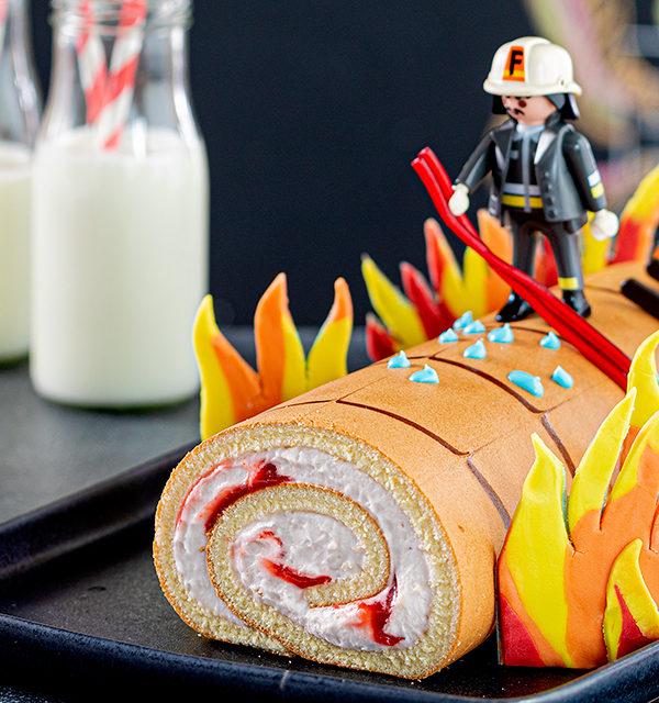 Feuerwehr-Kuchen zum Kindergeburtstag! 3