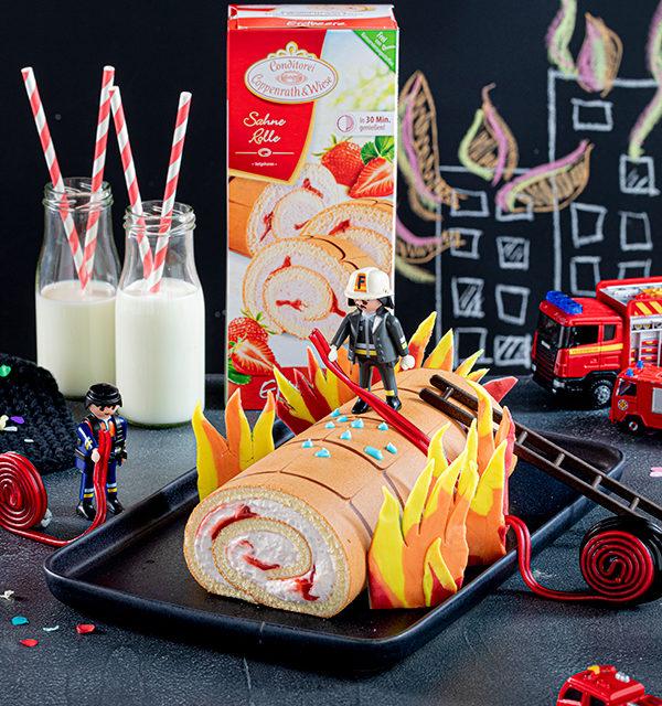 Feuerwehr-Kuchen zum Kindergeburtstag! 5