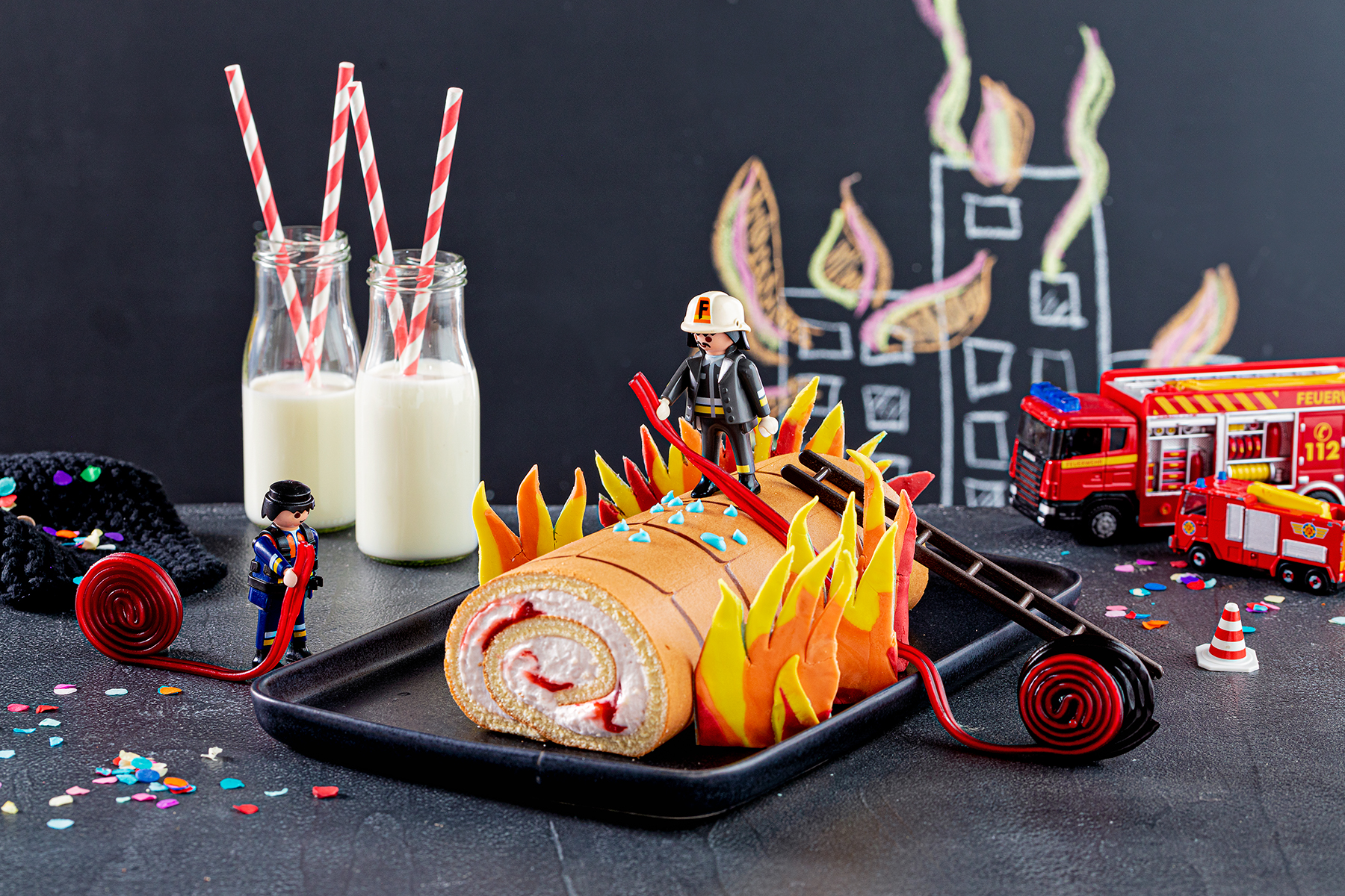 Feuerwehr-Kuchen zum Kindergeburtstag!