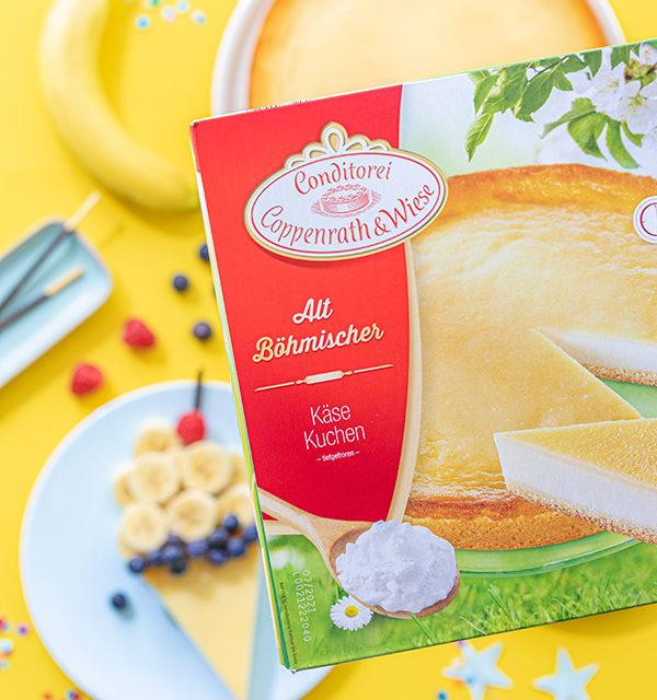 Kreatives Essen für Kinder: Eistüte aus Käsekuchen und Obst 11