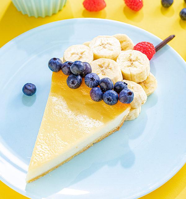 Kreatives Essen für Kinder: Eistüte aus Käsekuchen und Obst 21