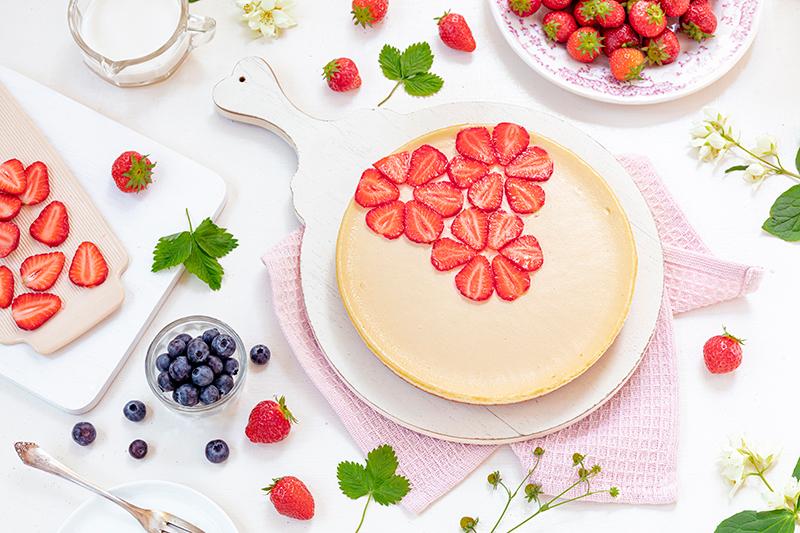Cheeecake mit Erdbeeren 36