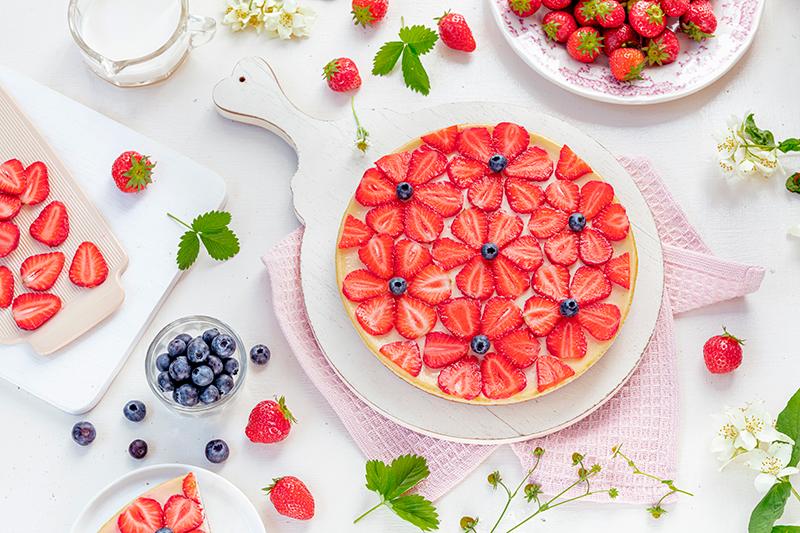 Cheeecake mit Erdbeeren 38