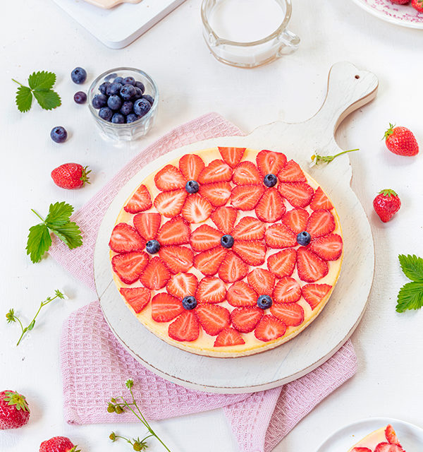 Cheeecake mit Erdbeeren 6