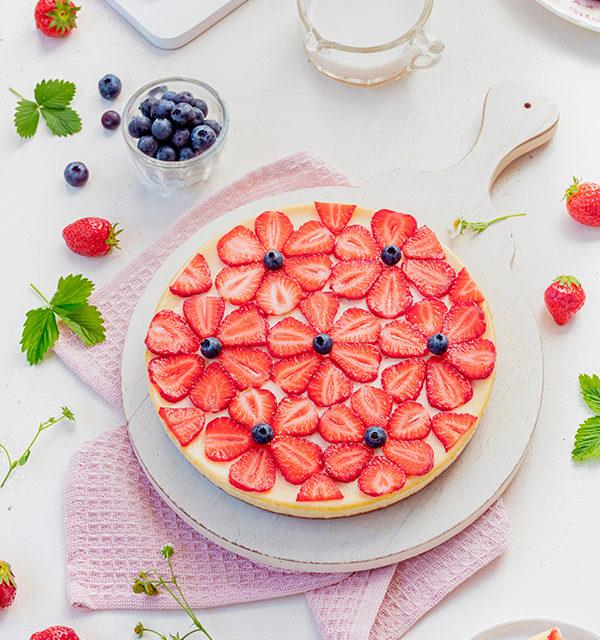 Cheeecake mit Erdbeeren 7