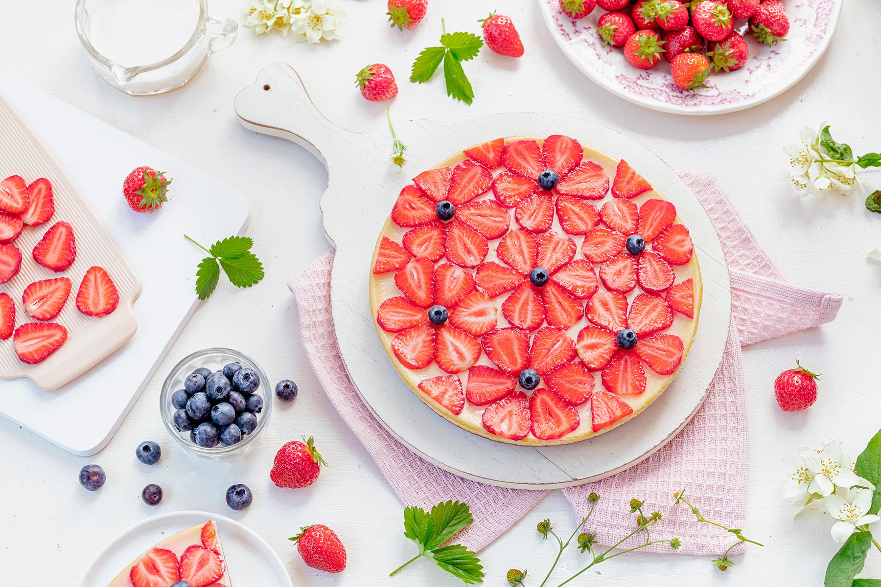 Cheeecake mit Erdbeeren