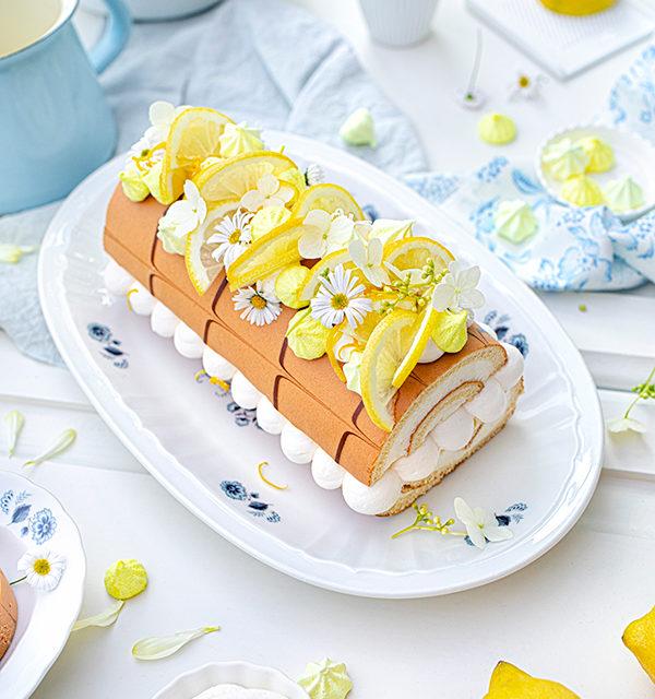 Zitronen-Sahne-Rolle im Sommerlook 2