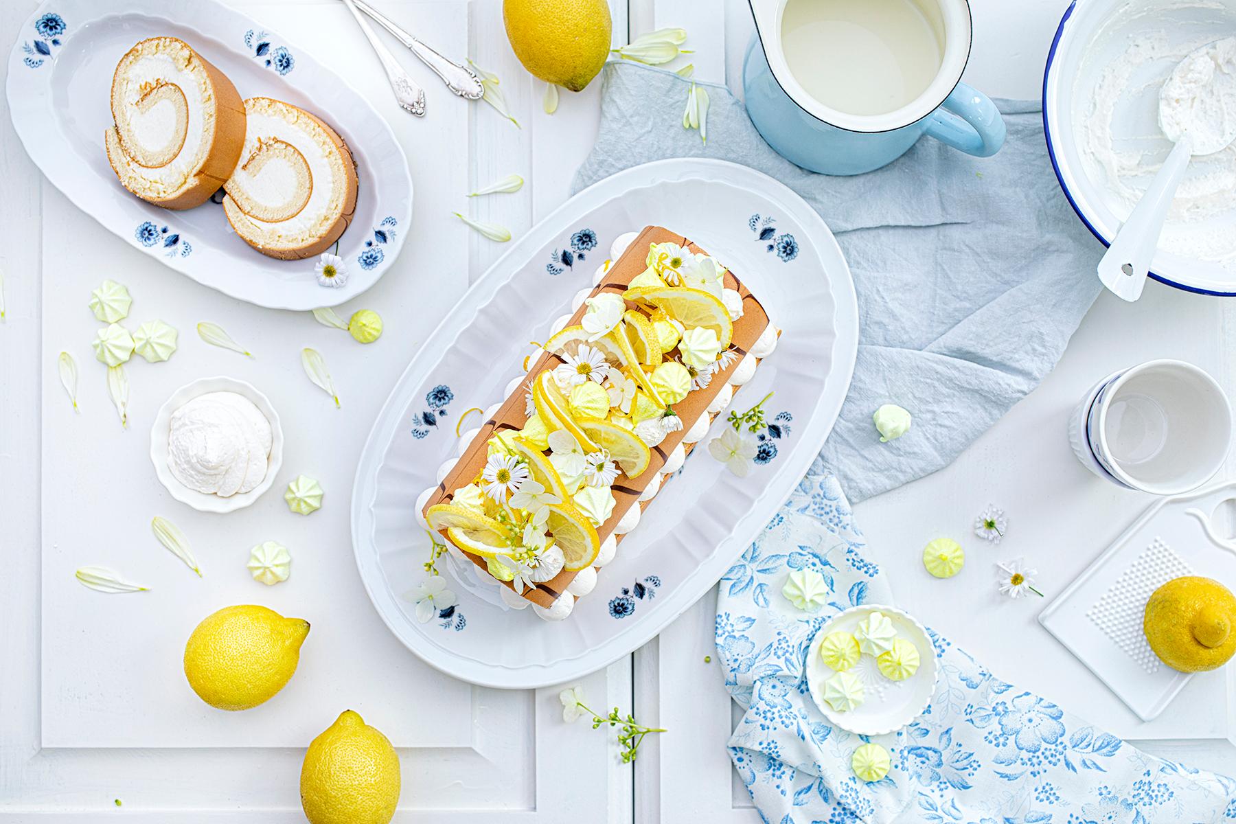 Zitronen-Sahne-Rolle im Sommerlook