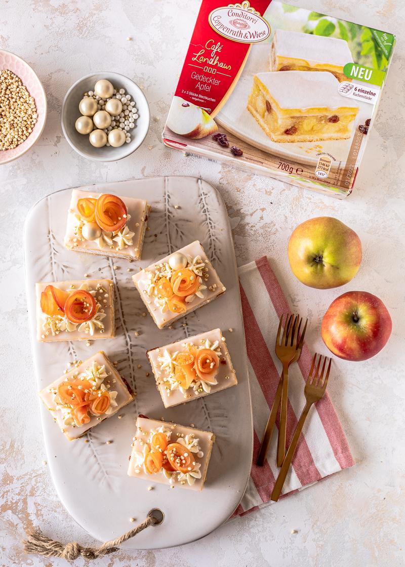 Apfelrosenkuchen - no bake! 1