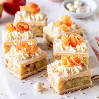 Apfelrosenkuchen - no bake! 2