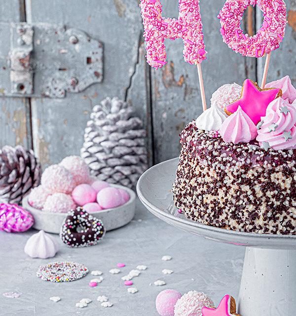 Hohoho-Christmascaketopper für unsere Stracciatella-Kirsch-Torte 20