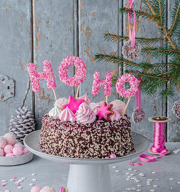 Hohoho-Christmascaketopper für unsere Stracciatella-Kirsch-Torte 21