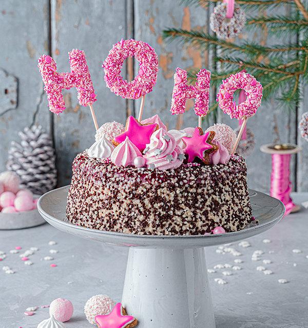 Hohoho-Christmascaketopper für unsere Stracciatella-Kirsch-Torte 22