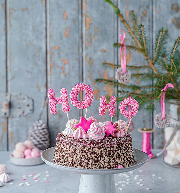 Hohoho-Christmascaketopper für unsere Stracciatella-Kirsch-Torte 23