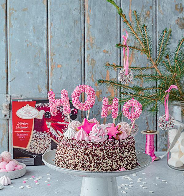 Hohoho-Christmascaketopper für unsere Stracciatella-Kirsch-Torte 24