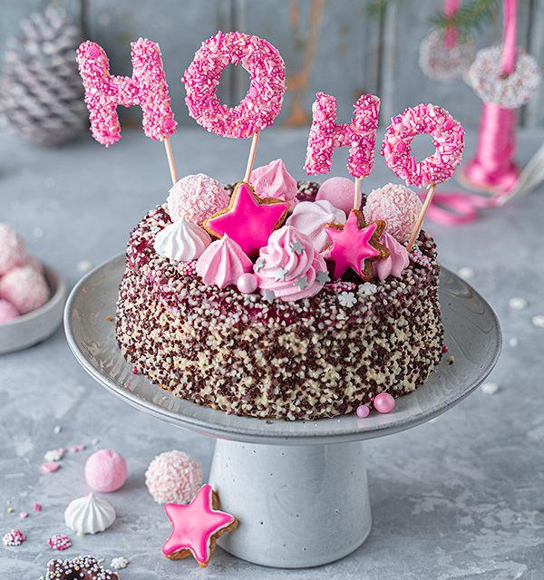Hohoho-Christmascaketopper für unsere Stracciatella-Kirsch-Torte 26