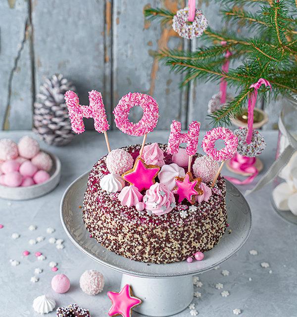 Hohoho-Christmascaketopper für unsere Stracciatella-Kirsch-Torte 28