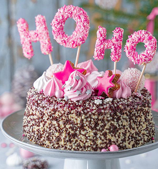 Hohoho-Christmascaketopper für unsere Stracciatella-Kirsch-Torte 29