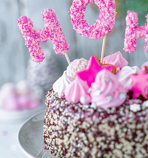Hohoho-Christmascaketopper für unsere Stracciatella-Kirsch-Torte 30