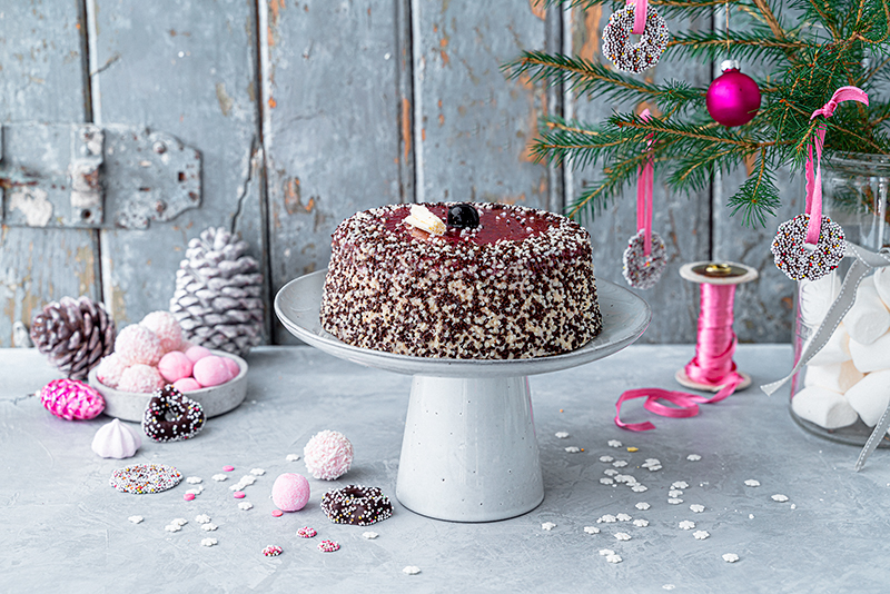 Hohoho-Christmascaketopper für unsere Stracciatella-Kirsch-Torte 39