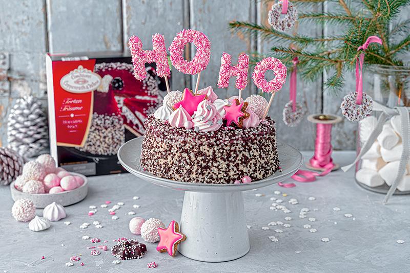 Hohoho-Christmascaketopper für unsere Stracciatella-Kirsch-Torte 43