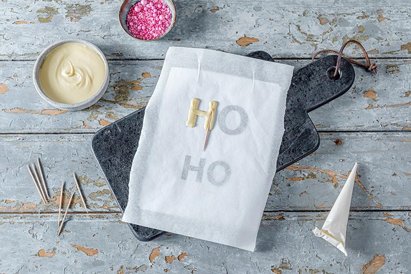 Hohoho-Christmascaketopper für unsere Stracciatella-Kirsch-Torte 46