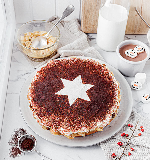 Perfekt im Advent: Käsekuchen mit Bratapfelkompott 12