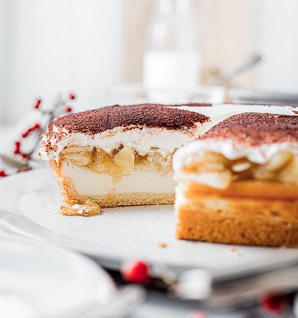 Perfekt im Advent: Käsekuchen mit Bratapfelkompott 23