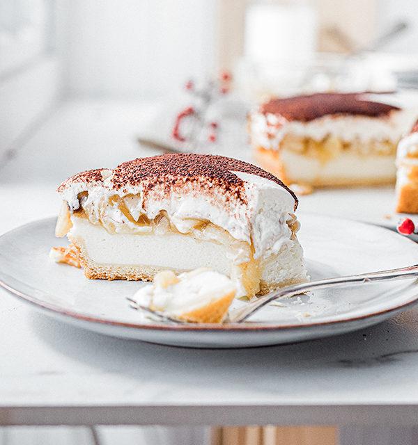 Perfekt im Advent: Käsekuchen mit Bratapfelkompott 25