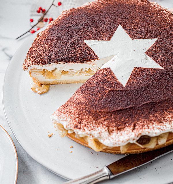 Perfekt im Advent: Käsekuchen mit Bratapfelkompott 27