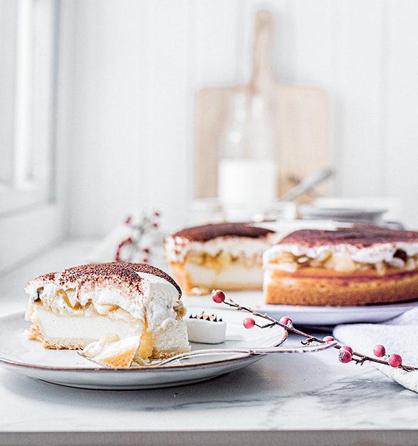 Perfekt im Advent: Käsekuchen mit Bratapfelkompott 30