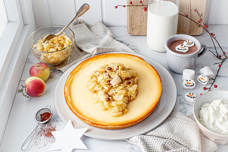 Perfekt im Advent: Käsekuchen mit Bratapfelkompott 33