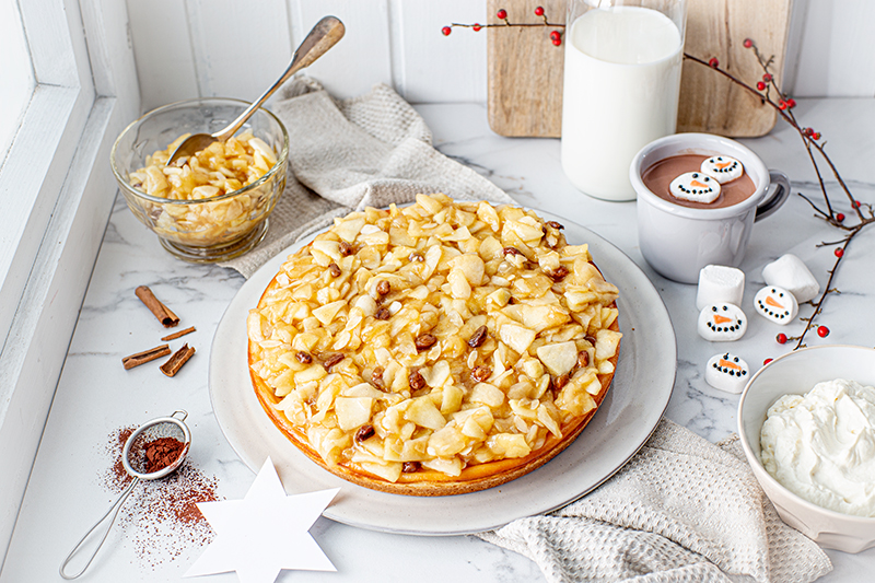 Perfekt im Advent: Käsekuchen mit Bratapfelkompott 34